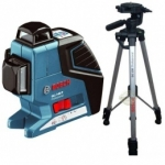 Linijų lazeris Bosch GLL 3-80 P su stovu BS 150 Professional