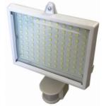 LED prožektorius 25W, baltas, šilta šviesa, su davikliu