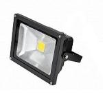 LED prožektorius 10W, šalta šviesa, juodas
