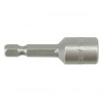 """Antgalis -galvutė magnetinė CR-V, 1/4"""" 10x48 mm (YT-1505)"""