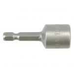 """Antgalis -galvutė magnetinė CR-V, 1/4"""" 12x48 mm (YT-1507)"""