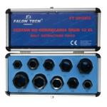Galvučių rinkinys sugadintiems varžtams 10vnt, 9-19 mm (FT001003)