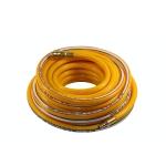 Žarna PVC su žalvarinėmis jungtimis geltona (10x16mm), 10m STROM PH1010