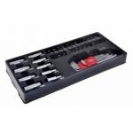 Padėklas į įrankių spintelę, antgaliai 1/4'', bitai, šešiabriauniai raktai
