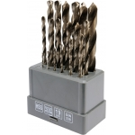 Grąžtų metalui rinkinys | HSS | 1-10 mm | 19 vnt. (21999)