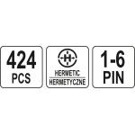 Hermetinių jungčių asortimentas 424vnt. (YT-06869)