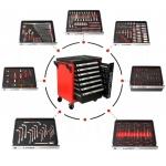 Įrankių spintelė BJC 7 stalčiai su 298 įrankiais (M66599)