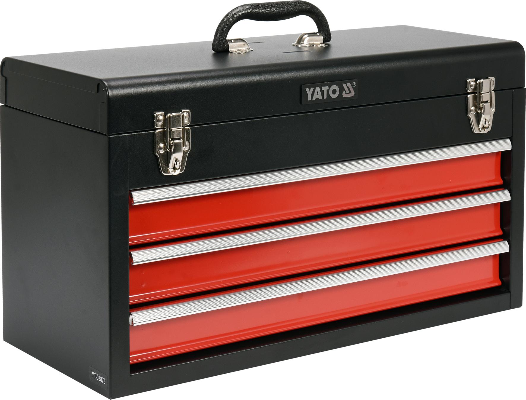 Metalinė įrankių dėžė, tuščia | 3 stalčiai (YT-08873)