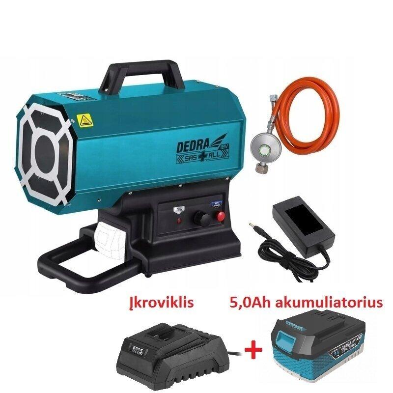 Akumuliatorinis dujinis šildytuvas 9-20kW 18V DEDRA SAS+ALL (DED7185H+)