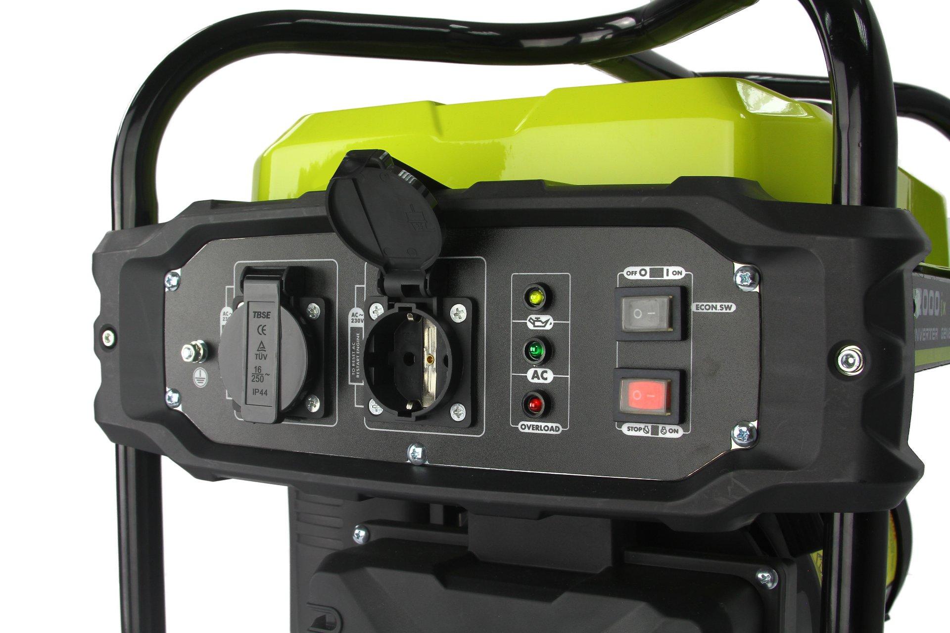 Benzininis generatorius 2000W, 2600-3800aps/min (M82483)
