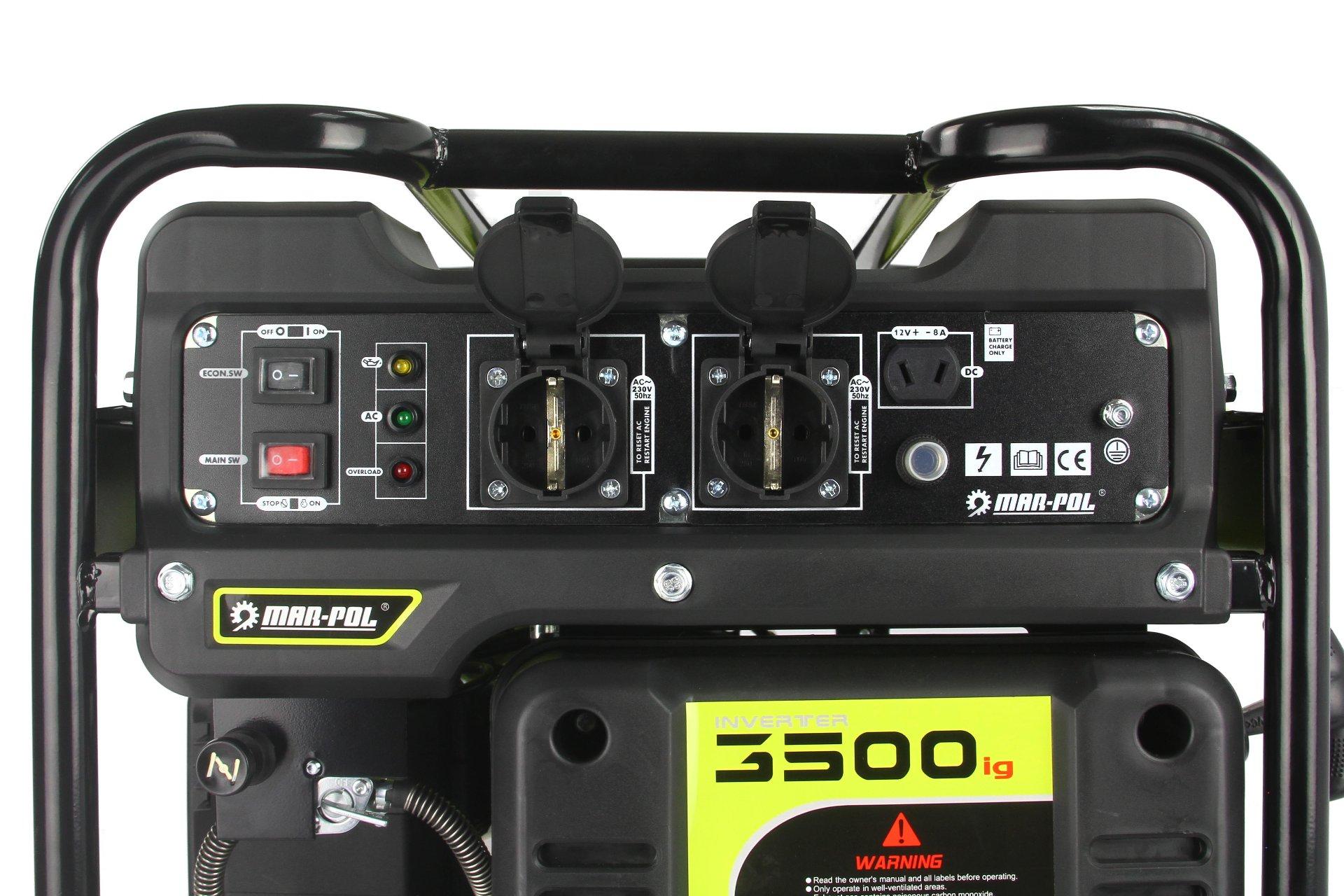 Benzininis generatorius 3500W, 2600-3800aps/min (M82482)