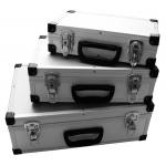 Aliuminių lagaminų rinkinys | 3 vnt. (ABS03)