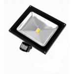 LED prožektorius 20W, šalta šviesa, su davikliu
