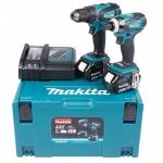 18 V 2x4,0 Ah Makita DLX2014MJX Akumuliatorinių įrankių komplektas DDF456 + DTD146