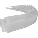 Dirželiai laidams su velcro | balti | 150 mm / 10 vnt. (73840)