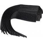 Dirželiai laidams su velcro | juodi | 150 mm / 10 vnt. (73850)