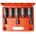 Ilgų galvučių rinkinys pusašiams | 12 kampų | 27 - 36 mm | 8 vnt. (SK5335)
