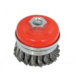 Šepetys vielinis puodo tipo | susuktas / su žiedu | M14 | Ø 65 mm (ES740065R)