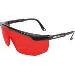 Apsauginiai akiniai | raudoni | darbui su lazeriais (YT-30460)
