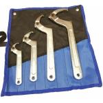 Kablio tipo / užmetamų veržliarakčių rinkinys | kvadratinis antgalis | 19 - 170 mm | 4 vnt.. (H6819)