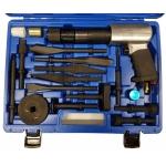 Vibro / smūginių kaltų / iškalėjų / nuėmėjų rinkinys su pneumatiniu plaktuku | 16 vnt. (H2316)
