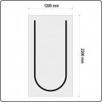 Uždangalas durų angoms   daugkartinis   tipas U   220 X 120 cm (YT-67220)