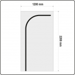 Uždangalas durų angoms   daugkartinis   tipas L   220 X 120 cm (YT-67221)