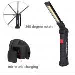 Darbo lempa akumuliatorinė   aluminis +ABS+Guma   3W COB   USB (FD-8652)