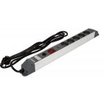 Elektrinis ilgintuvas | aliuminis | 5 lizdai | 1.5 mm² | 3 m (72372)
