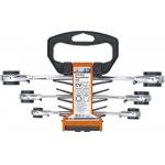 Kilpinių terkšlinių raktų rinkinys | su reversu | 4 viename | 8 x 9 - 18 x 19 mm (6837)