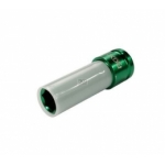 """Galvutė ilga plonasienė smūginė su plastikine apsauga 1/2"""", 15 mm"""