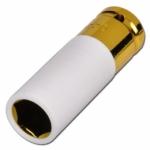 """Galvutė ilga plonasienė smūginė su plastikine apsauga 1/2"""", 19 mm"""