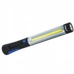 Akumuliatorinis prožektorius 3W COB LED+3W LED, įkroviklis USB 230V ir 12V (L1023)