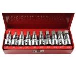 """Antgalių rinkinys 1/2"""", 10 vnt, Hex, H4-H19, metalinė dėžutė (KR122010A)"""