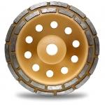 Deimantinis šlifavimo diskas | lėkštės tipo | dviejų eilių | 22.2x180 mm (DR0180B)