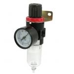 """Drėgmės filtras su reguliatorium ir manometru 1/4"""" (LG-07)"""