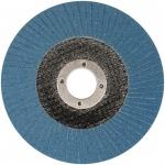 Šlifavimo diskas lapelinis išgaubtos formos | ZIRCONIUM INOX | P40 | 125X22,2mm (ES815040-WN)