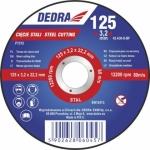 Abrazyvinis pjovimo diskas metalui išgaubtas 125x3,2x22,2 (F1312)