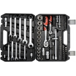 """Galvučių, raktų ir įrankių rinkinys 1/2"""" + 1/4"""" 82 dalių """"Yato"""" (YT-12691)"""