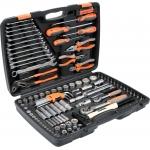 Galvučių, replių, raktų ir kitų įrankių XXL komplektas 122vnt. STHOR (58690)