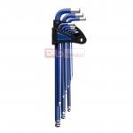 Šešiakampių L-raktų komplektas HEX 9d. 1.5-10mm, ''Beker'' (BR-H1.5-H10)