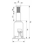 Hidraulinis cilindrinis domkratas 5t (YT-1702)