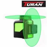 Lazerinis nivelyras 2x360 žalių spindulių Turan TLL 2-360CG