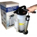 Rankinis techninių skysčių išsiurbimo/įsiurbimo bakas 9L su vakuuminiu siurbliu (HTG1042A-WN)