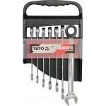 Terkšlinių raktų rinkinys 7 vnt,10-19mm (YT-0208)