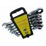 Terkšlinių raktų rinkinys | šarnyriniai 8-19 mm, 6 vnt. (ER-1206-WN)