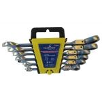 Terkšlinių raktų rinkinys šarnyriniai 8-19mm, 6 vnt. (FT660227-WN)