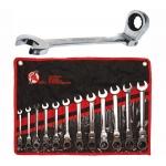 Terkšlinių raktų rinkinys iki 90 ° šarnyriniai 8 - 19mm, 12 vnt. (30002-WN)