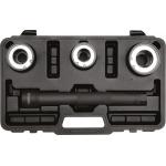 Vairo traukės/ašies nuėmimo antgalių rinkinys su 3 keičiamomis 30 - 45 mm užspaudimo galvutėmis (YT-06155)