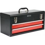 Metalinė įrankių dėžė, tuščia | 2 stalčiai (YT-08872)